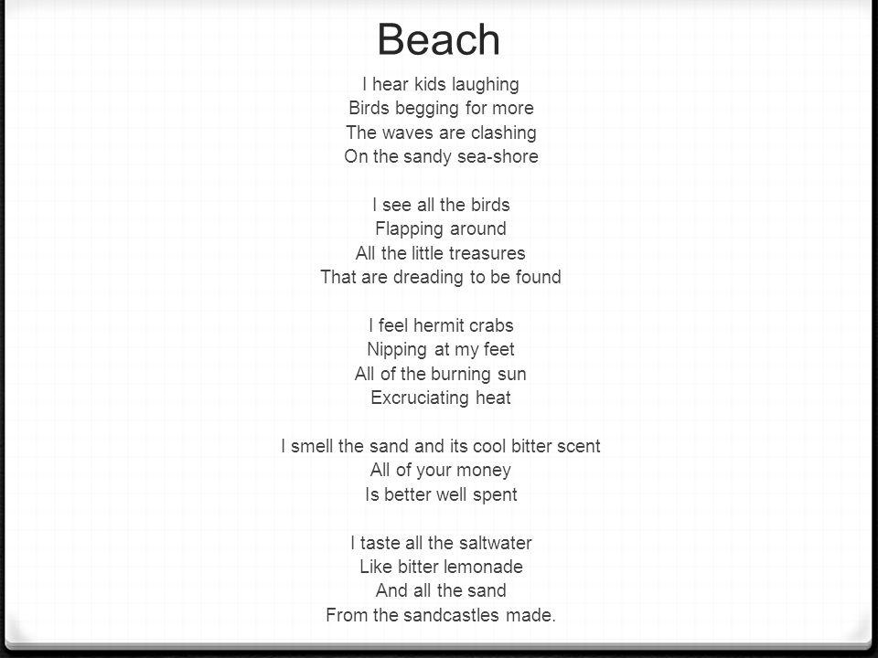 Write my descriptive essay on the beach