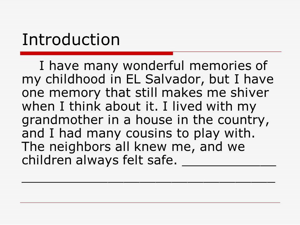 Childhood Memories Essays Students Mistyhamel