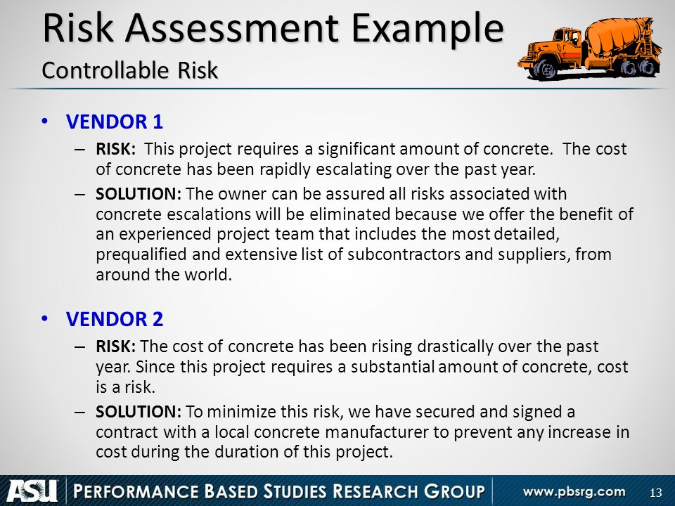 Risk Assessment and Value Added Plans John Savicky Arizona State