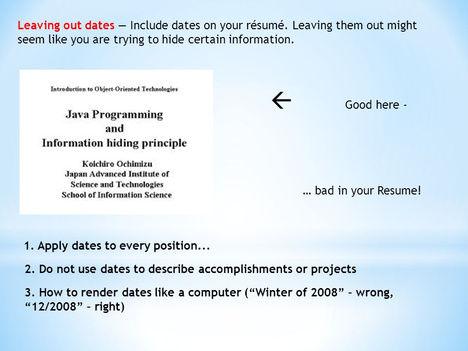 Font is too small \u2014 Make sure that your document is legible A - recommended font for resume
