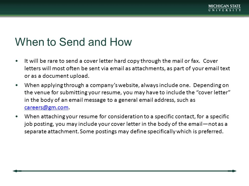 When To Send A Cover Letter - Madrat.Co