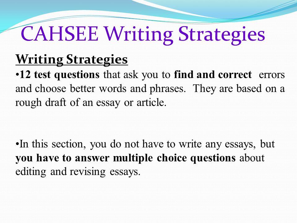 Cahsee Essay Rubric Mistyhamel