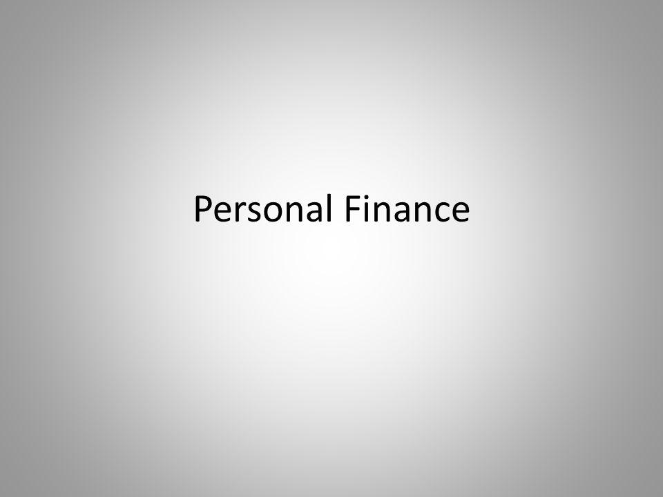 Personal Finance Budgeting Organize your information \u2013 Make a