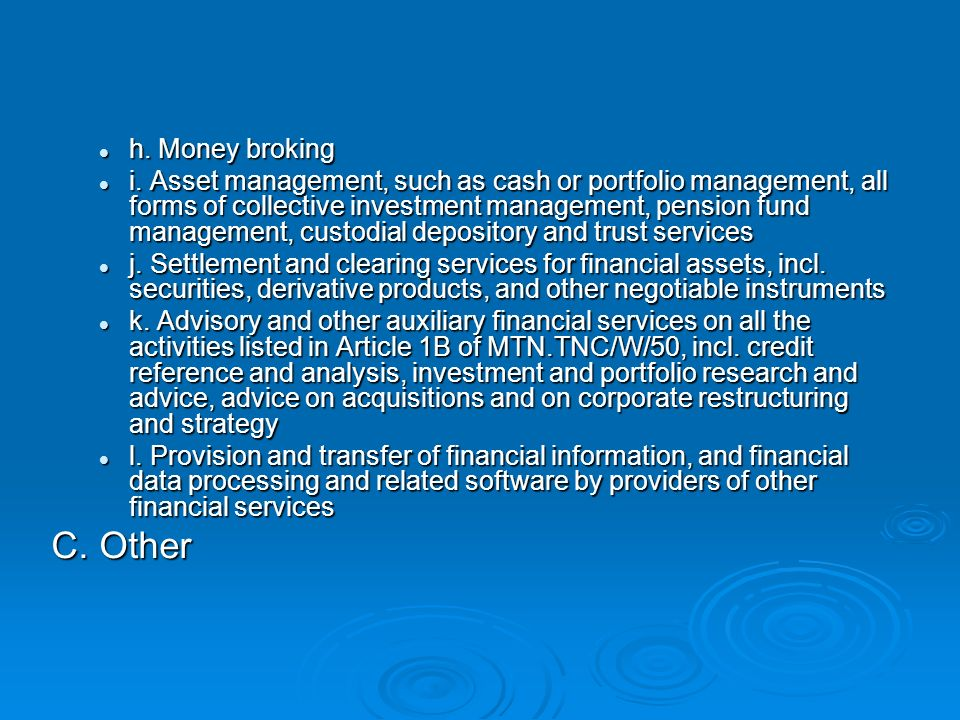 Financial Service 1 Definition under the Services Sectoral