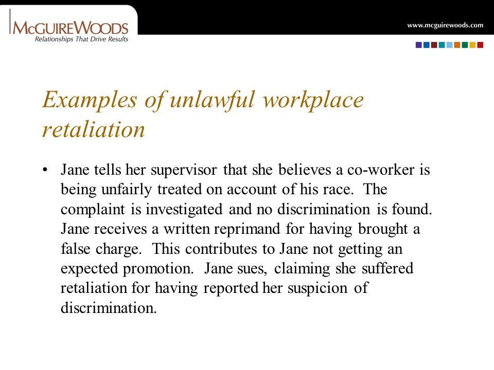 WORKPLACE RETALIATION DON\u0027T SHOOT THE COMPLAINER Colleen M Regan