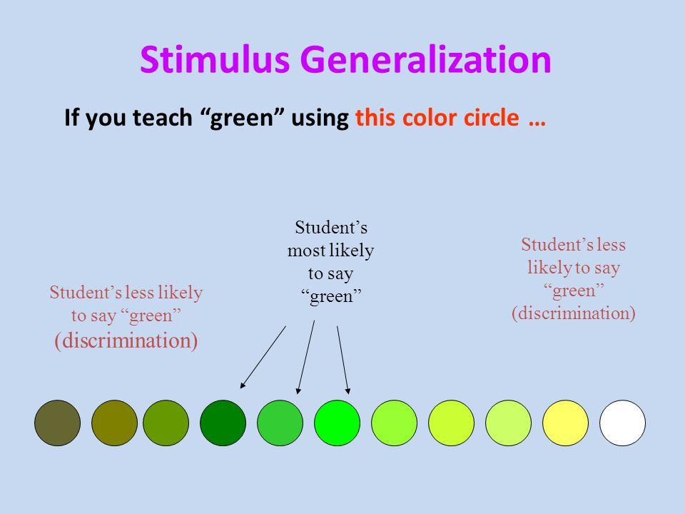 stimulus generalization - Towerssconstruction
