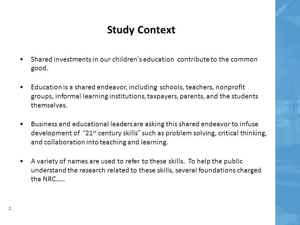 Education for Life and Work Developing Transferable Knowledge and