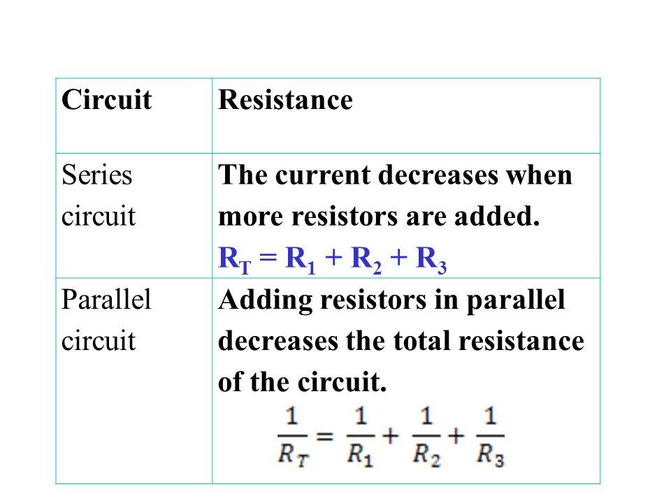 1013 Series  Parallel Circuits Series Circuits electric circuit
