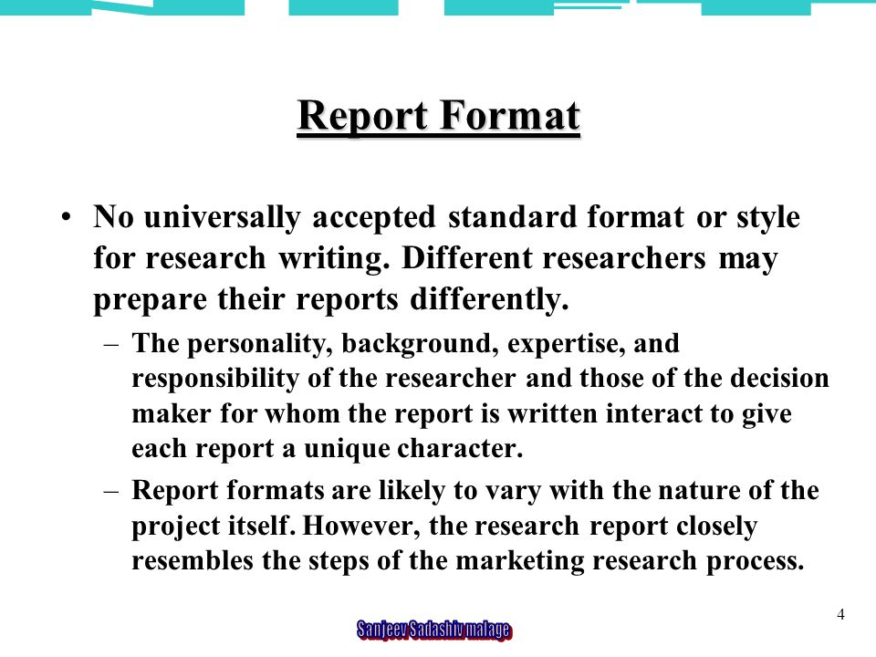 RESEARCH REPORT PREPARATION AND PRESENTATION 2 RESEARCH REPORT A