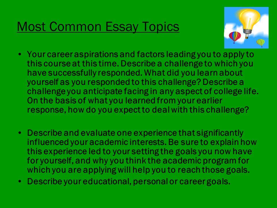 Career Aspirations Essay - Career Aspirations Essay