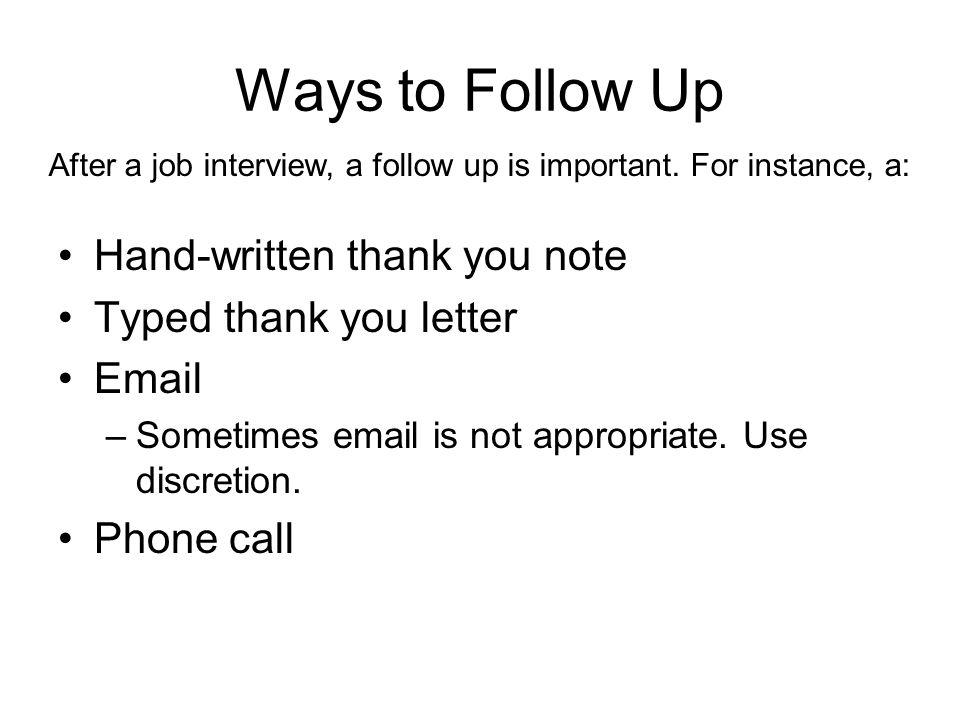 follow up phone call after interview - Josemulinohouse