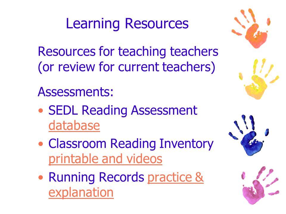 Resources for Emergent Literacy Teachers Boni Hamilton, EdD