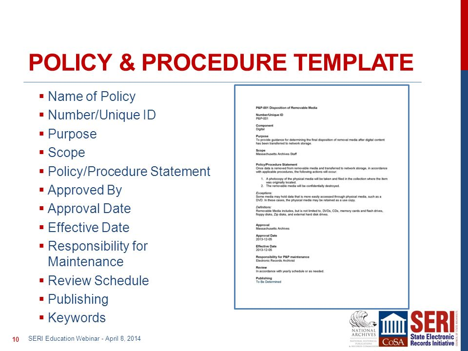 Policy And Procedure Template Writing Policy And Procedures