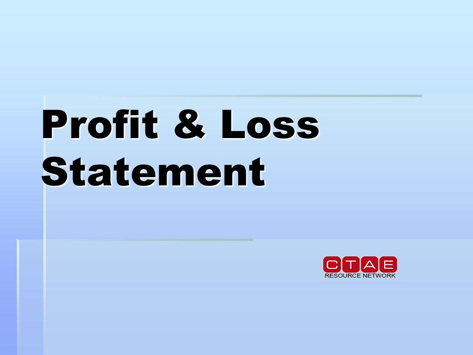 Profit  Loss Statement A basic profit and loss statement reports - loss profit statement