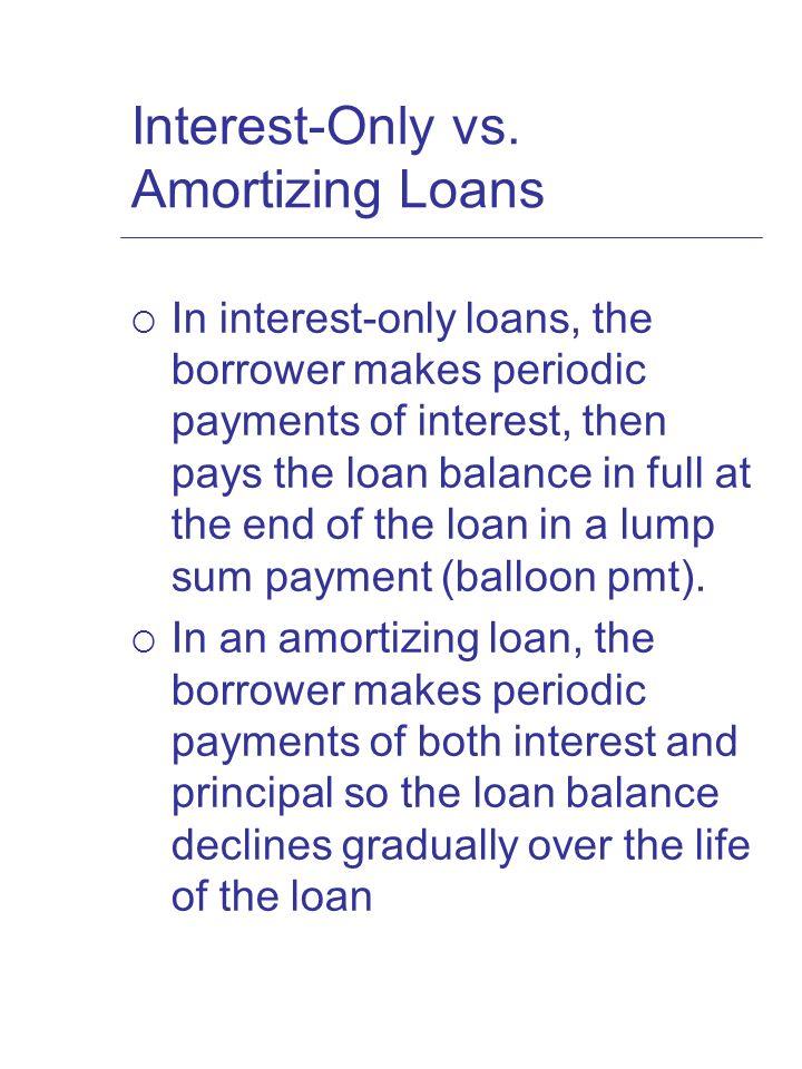 Chapter 15 Mortgage Mechanics Interest-Only vs Amortizing Loans