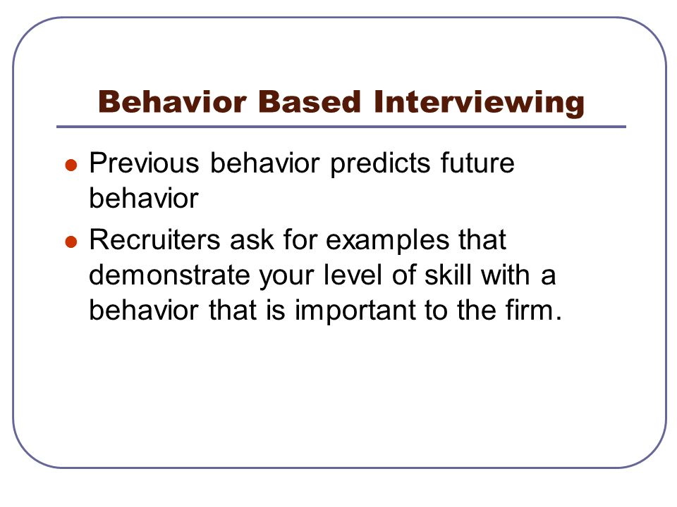 Interview Skills Workshop Objectives Typical Interview Structure