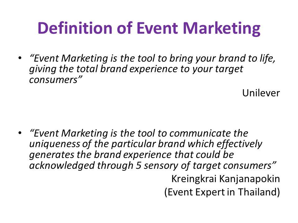 Event Marketing Integrated Marketing Communication (IMC) Brand Sale