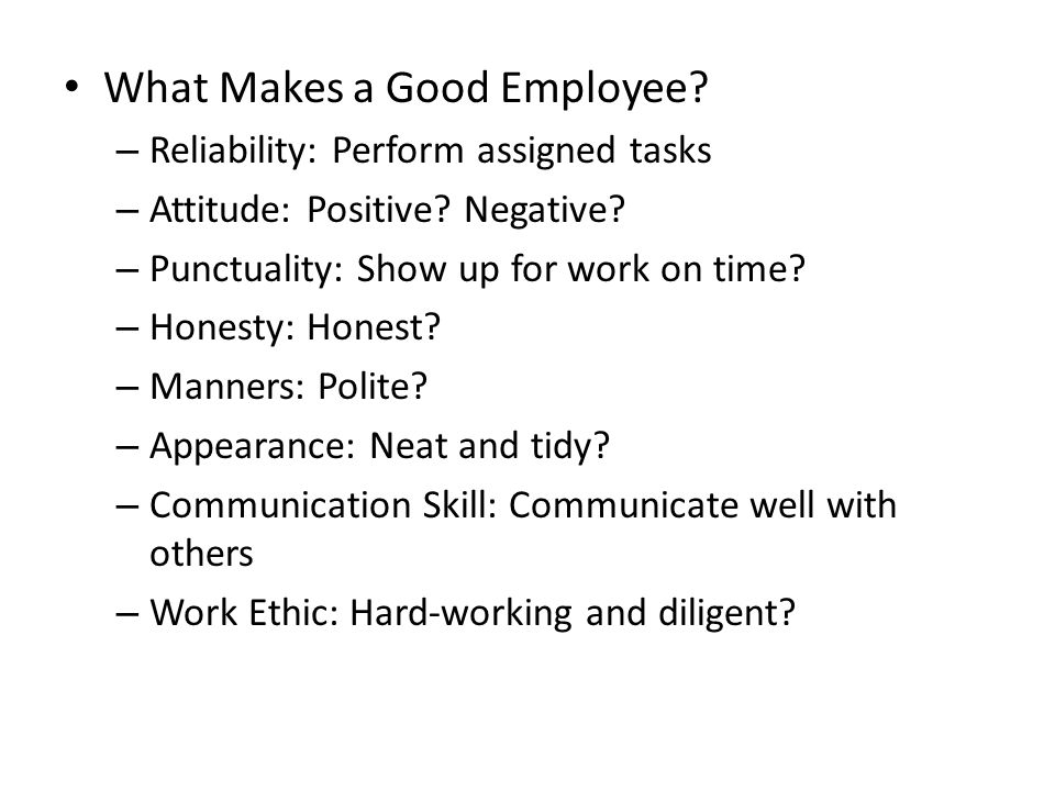 what qualities make a good employee - zrom