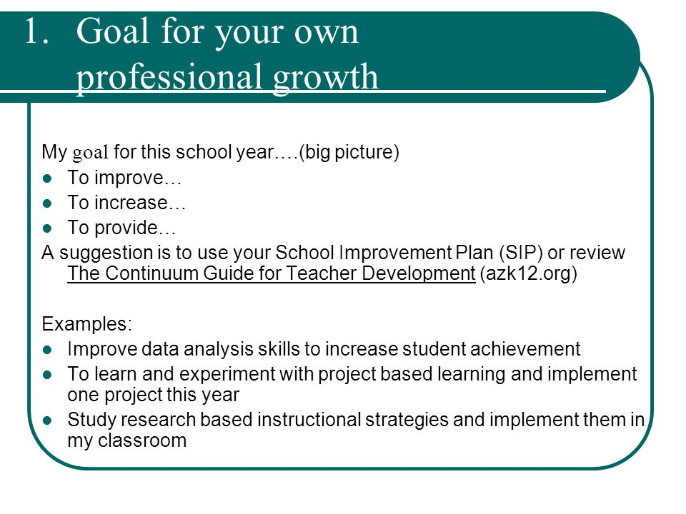 Professional Growth Plan / Professional Development Guide - ppt - professional development plan