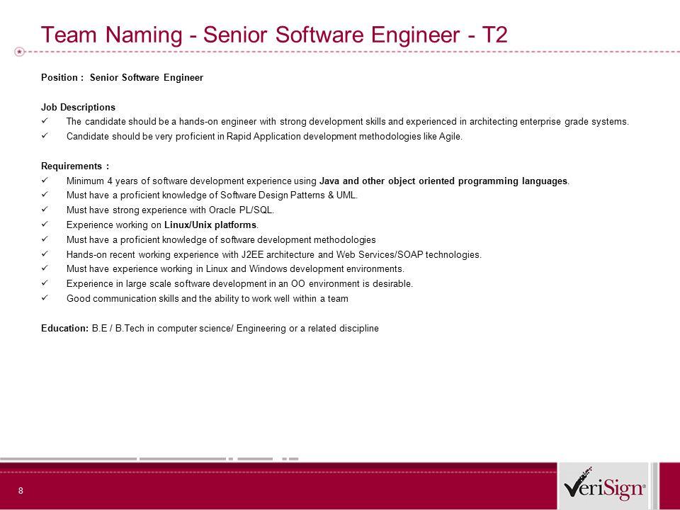 Bring The Best to VeriSign 2 Team Authentication- Senior Engineer
