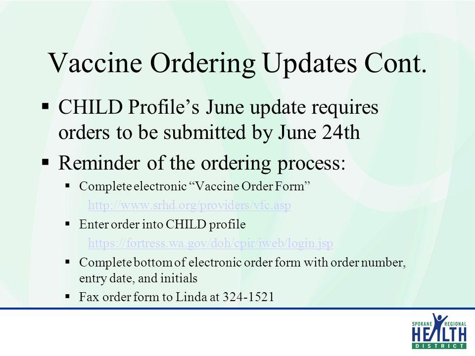Vaccine for Children (VFC) 2011 Provider Agreement Training June 13