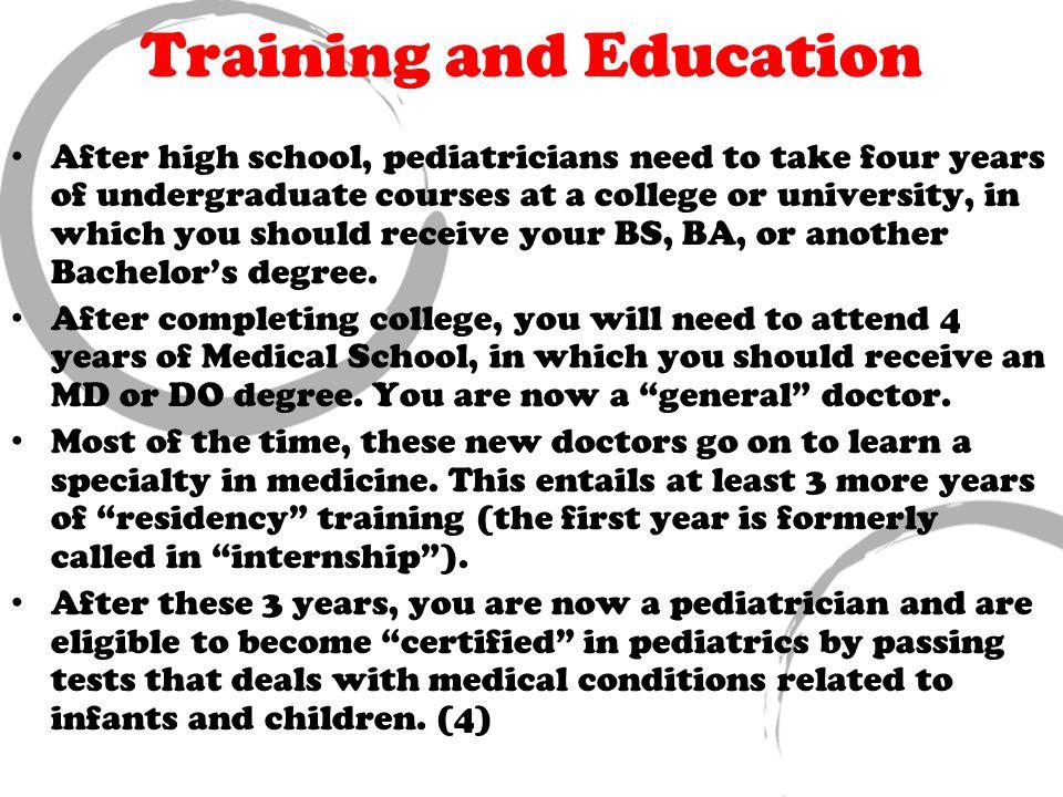 Truide Unger Pediatrician Job Responsibilities/ Description There