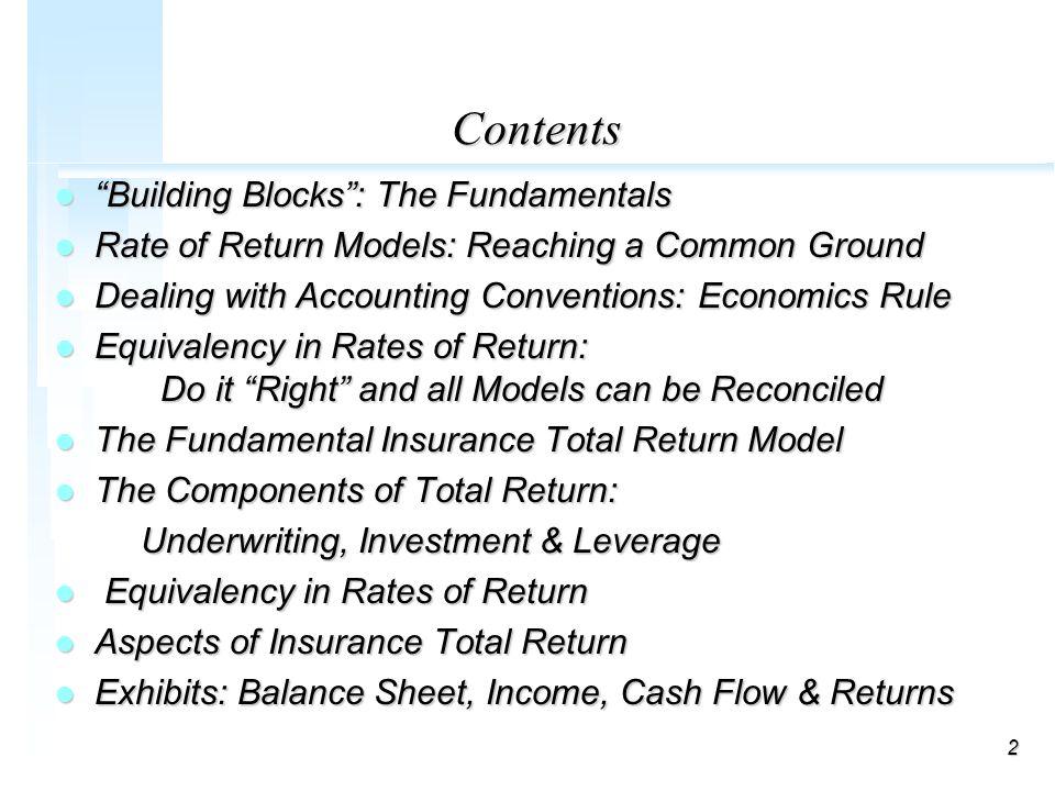 1 DISCOUNTED CASH FLOW MODELS (MIS-4546) Seminar on Ratemaking