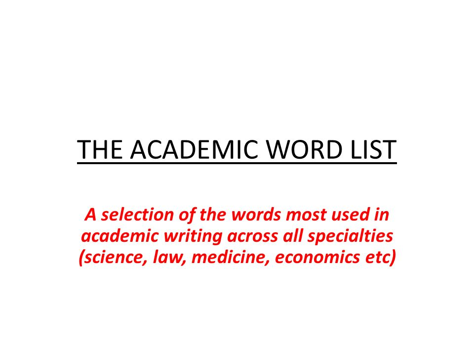 List of words to use in academic writing - Passengerpostalcf - college word list