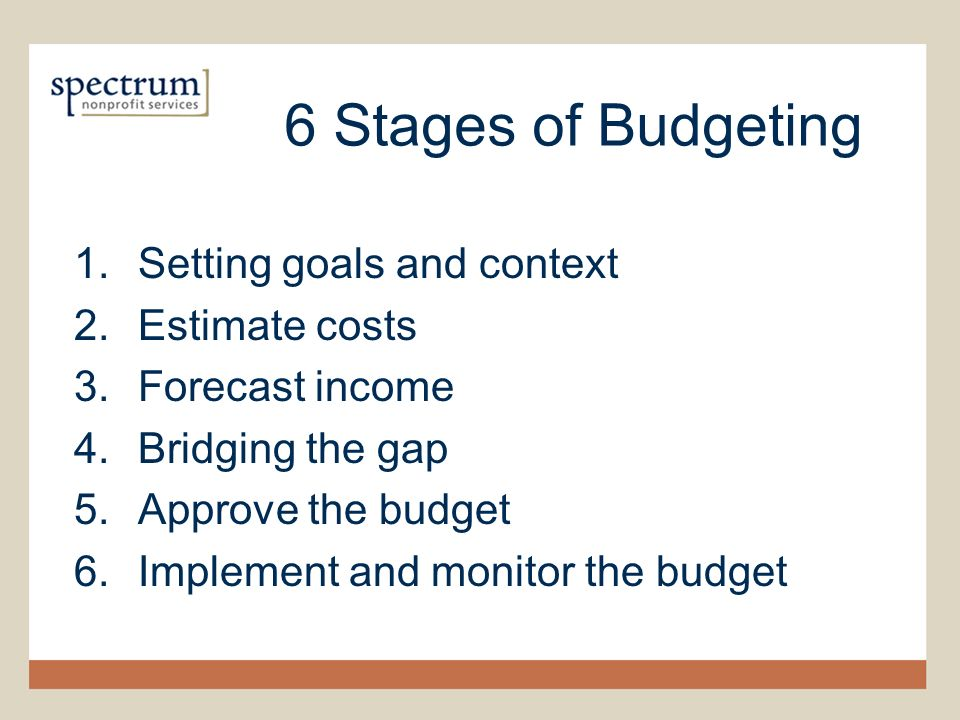 The Art  Science of Budgeting Steve Zimmerman Spectrum Nonprofit