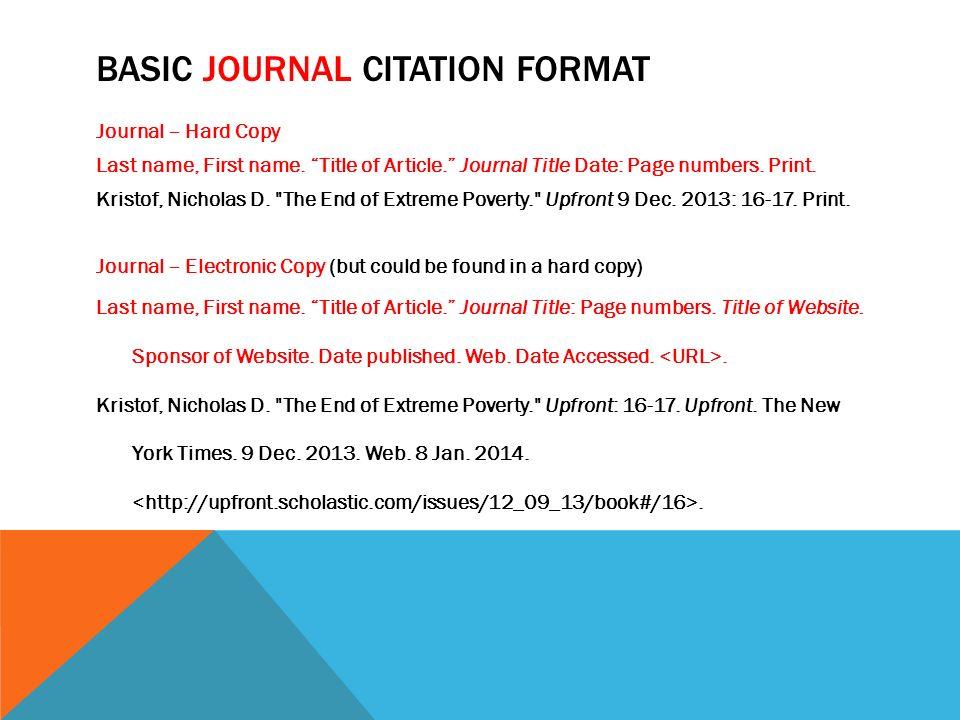 MLA \u2013 CITATIONS BASIC WEBSITE CITATION FORMAT Last Name, First Name