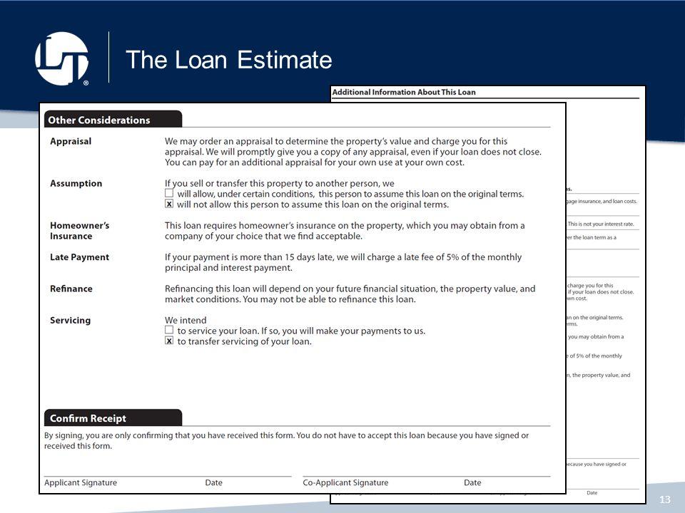 Loan Estimate Form - Resume Template Ideas - loan estimate form