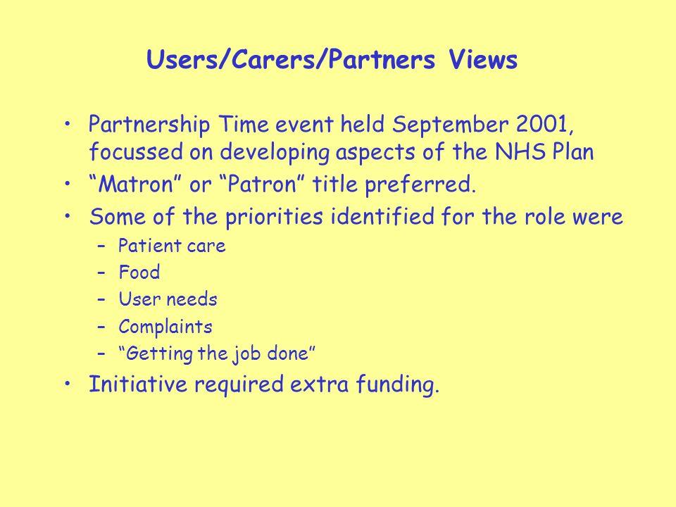 Modern Matron/Quality Service Nurse 1st Year Evaluation Report