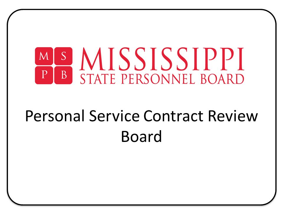 Personal Service Contract Review Board 2 Director Tess Funches - personal service contract