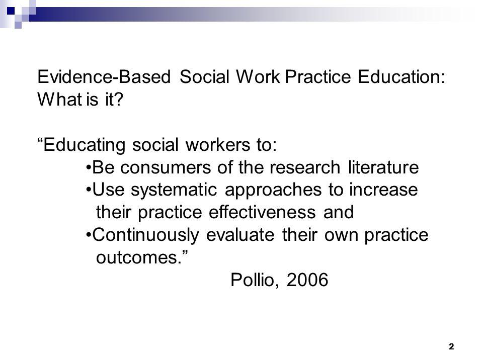 Evidence based practice social work Coursework Academic Writing - social work practice