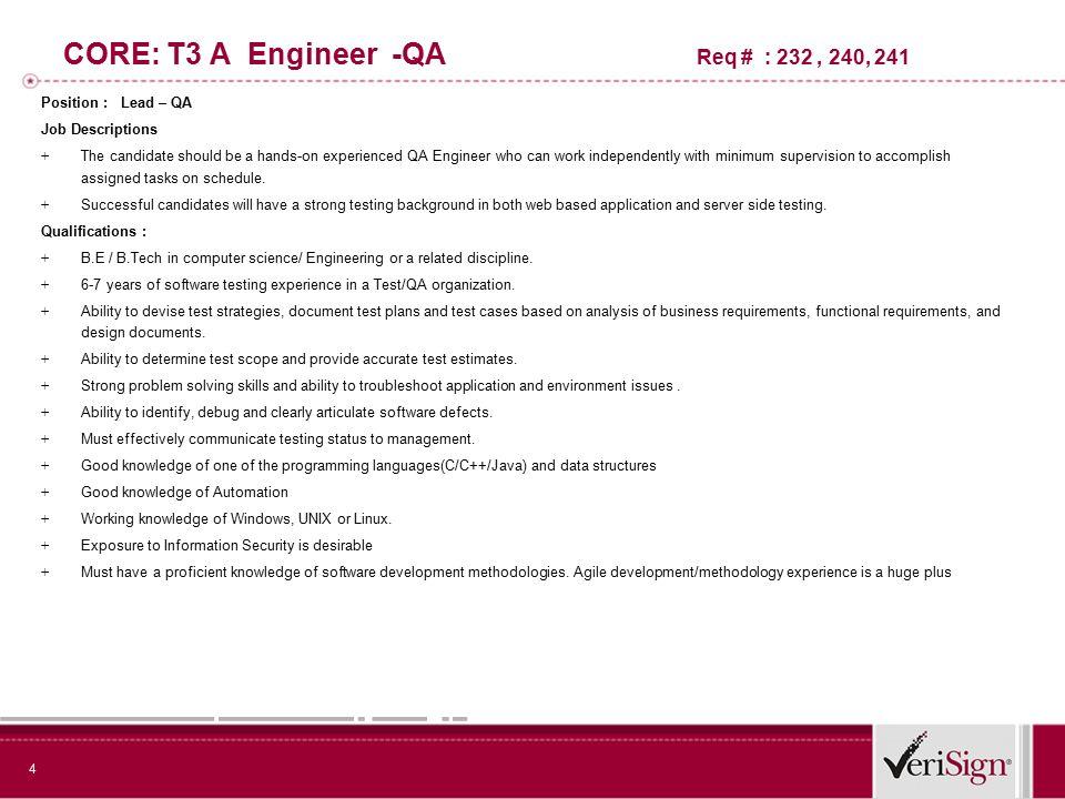 Bring The Best to VeriSign 2 VM3Software Engineer \u2013Network