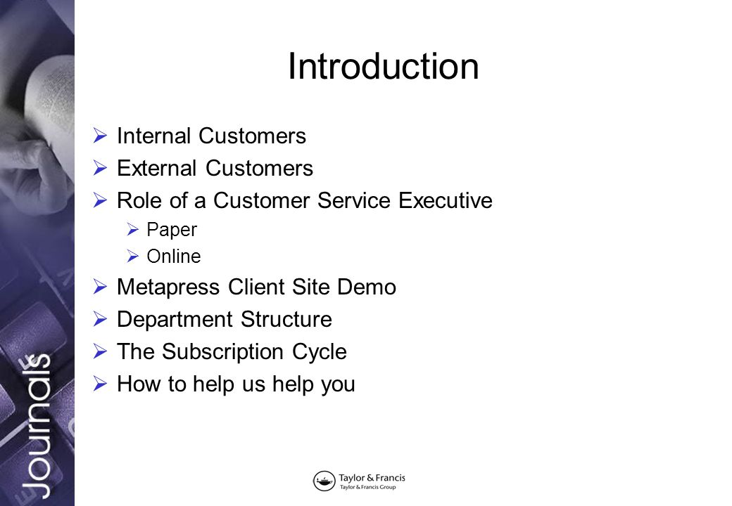 An overview of Customer Services \u2013 supplying print and electronic