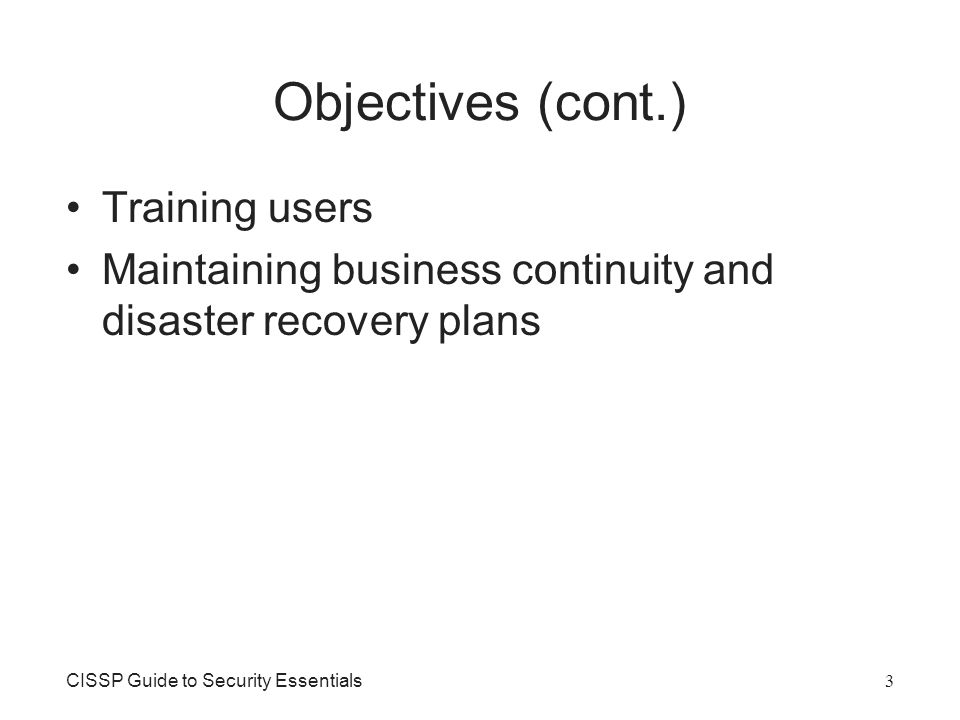 Business Continuity and Disaster Recovery Planning CISSP Guide to - recovery plans