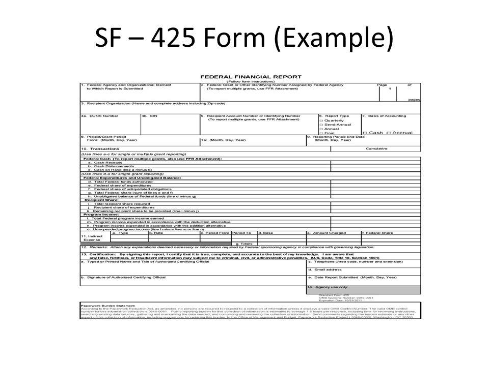 sf425 form - Helpemberalert