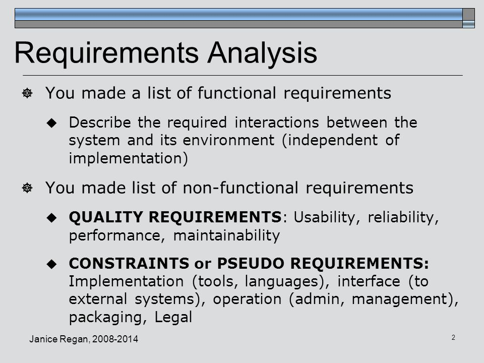1 CMPT 275 Software Engineering Requirements Analysis Phase - requirement analysis