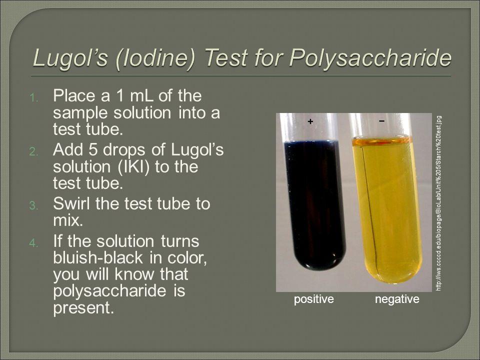 Biology Ms Haut 1 Add 1 ml (10 drops) of Benedict\u0027s solution to