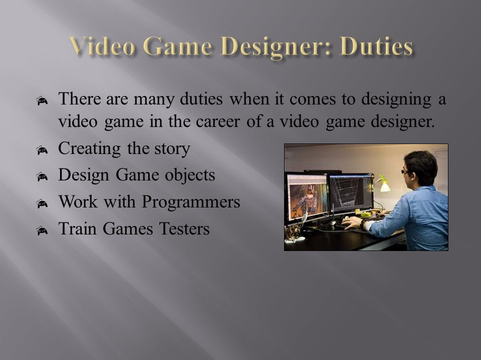brandon martin 5 th hour video game designer is one of the video game game - Video Game Testers Salary