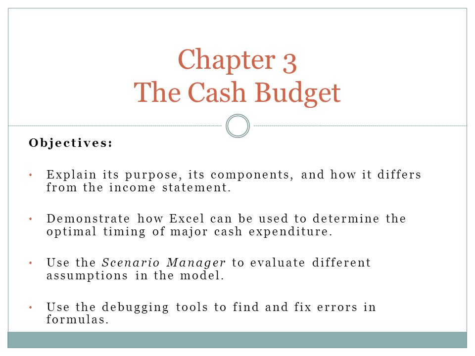 Objectives Explain its purpose, its components, and how it differs