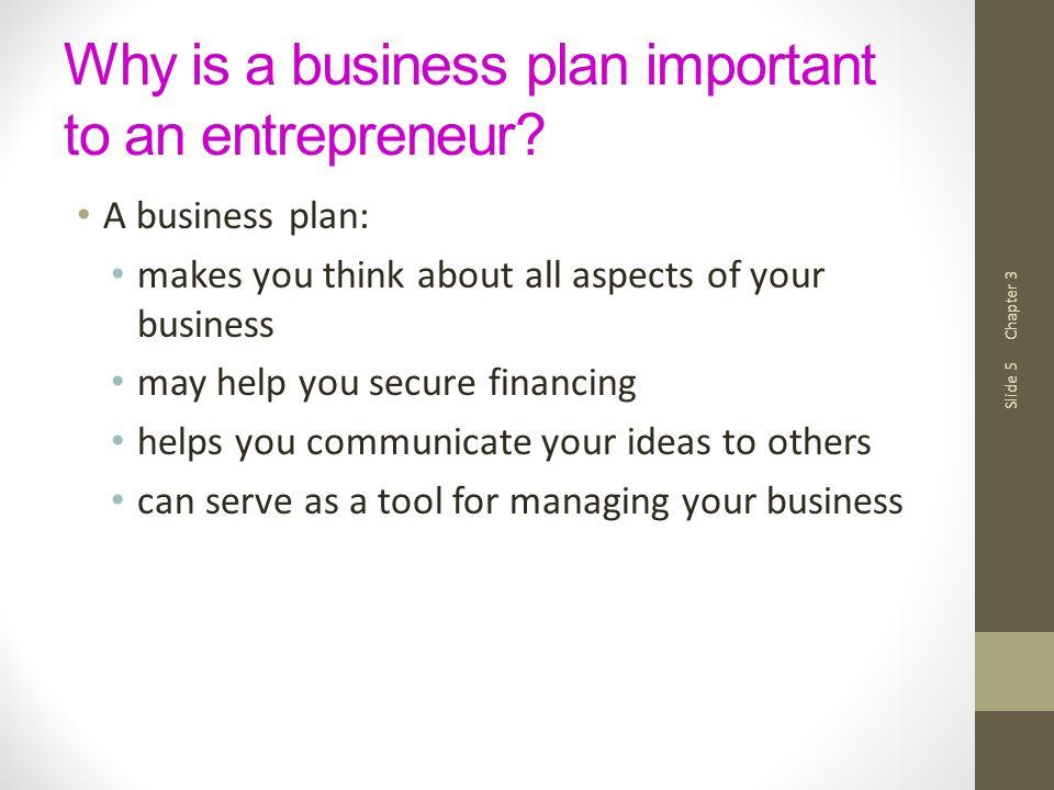 The Business Plan Entrepreneurship Fall Chapter 3 Slide 2 The