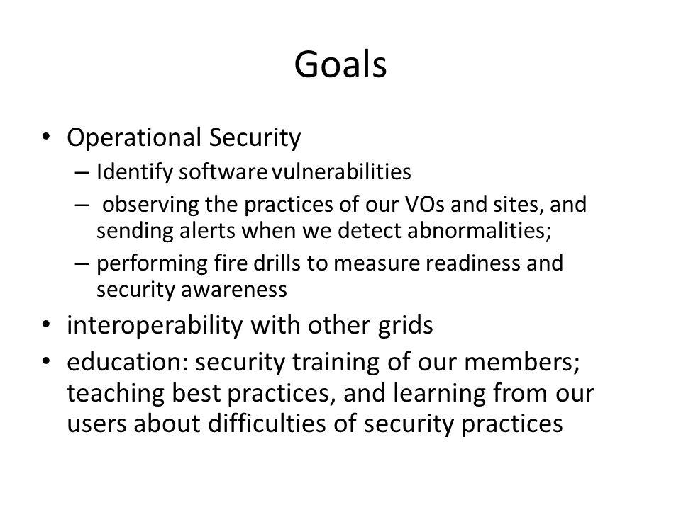 OSG Security Kevin Hill Goals Operational Security \u2013 Identify