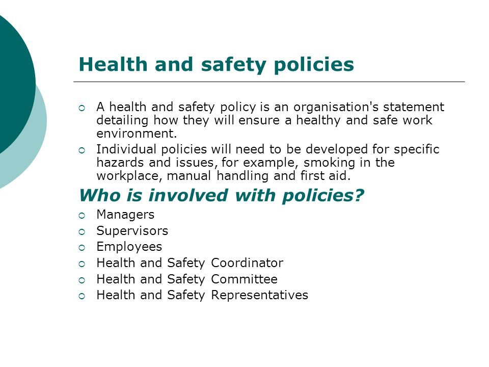 Participate in Occupational Health, Safety  Welfare ppt download