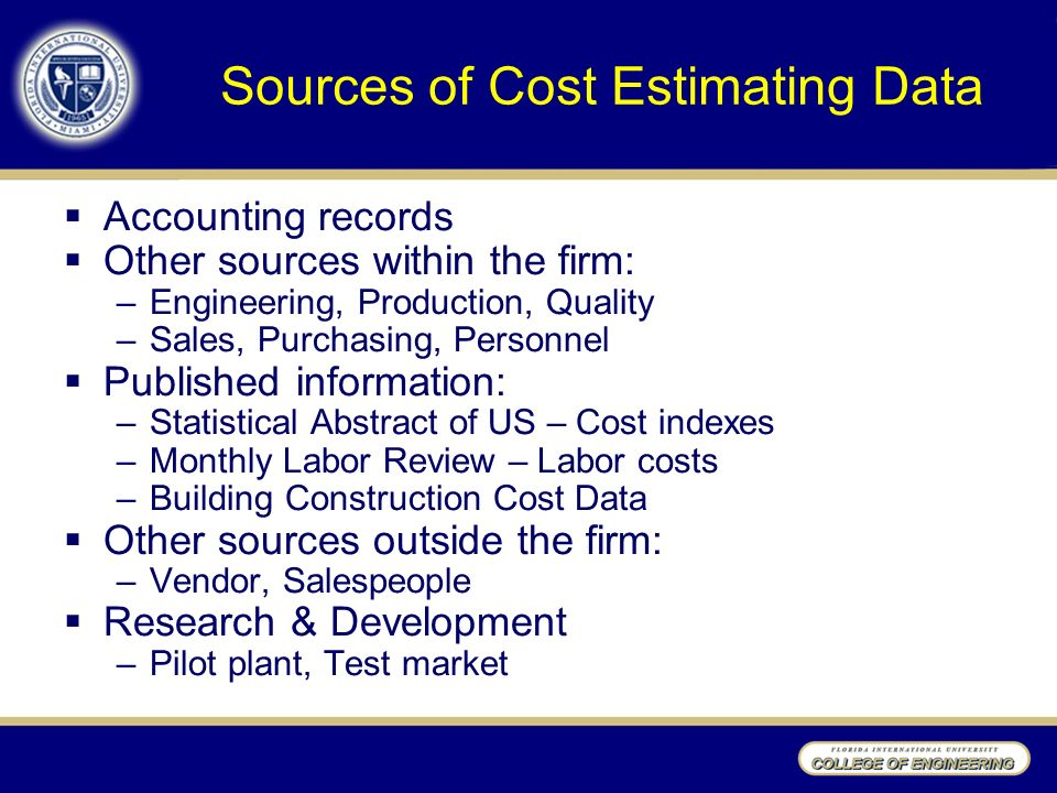 Engineering Costs and Cost Estimating Manufacturing Cost Structure