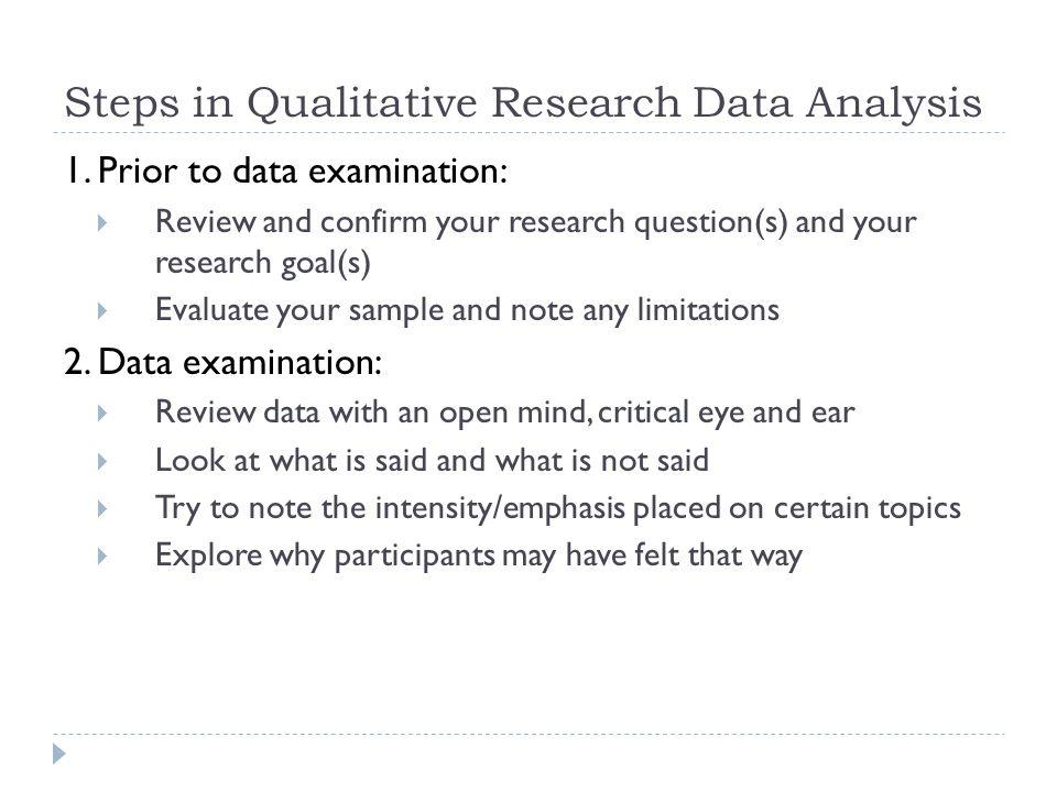 Qualitative Data Analysis Qualitative Data  Format text