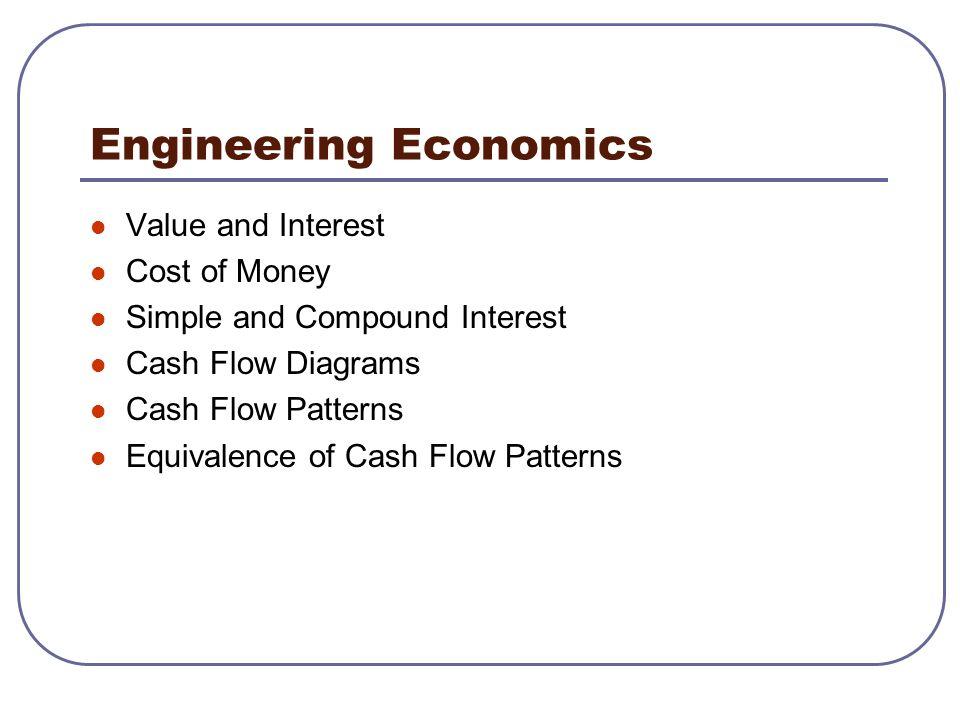 Engineering Orientation Engineering Economics Value and Interest
