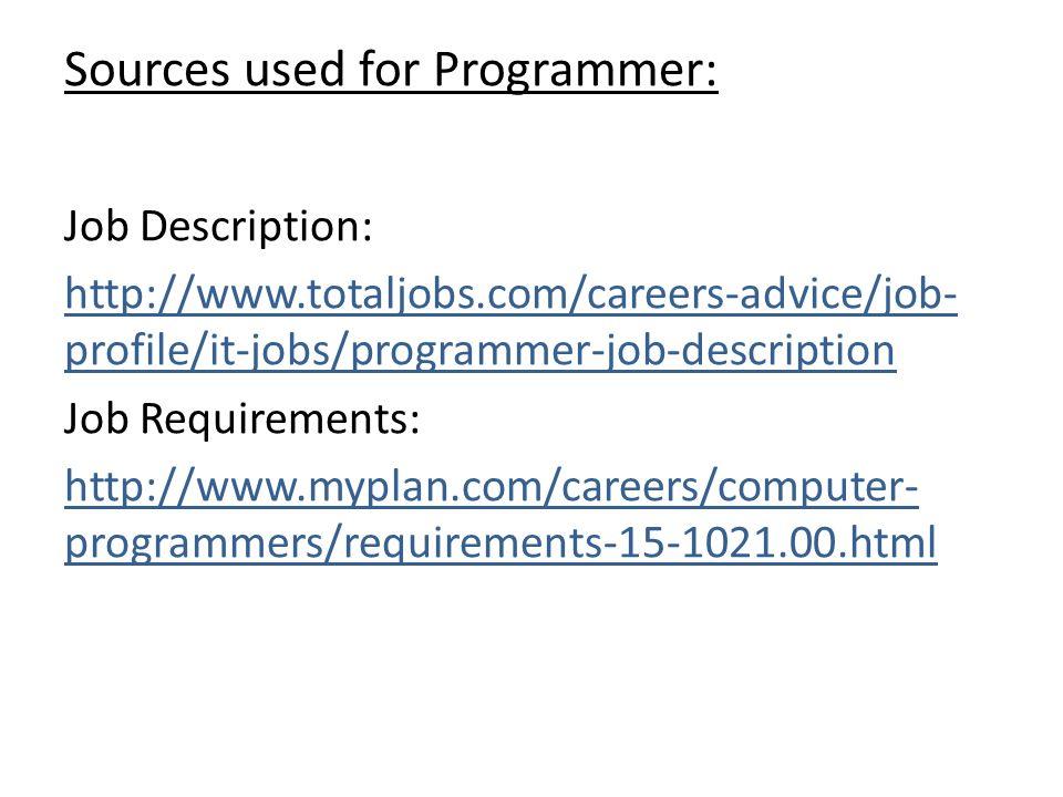 Webmaster Job Description Optimize Job Descriptions Icon Write - programmer job description
