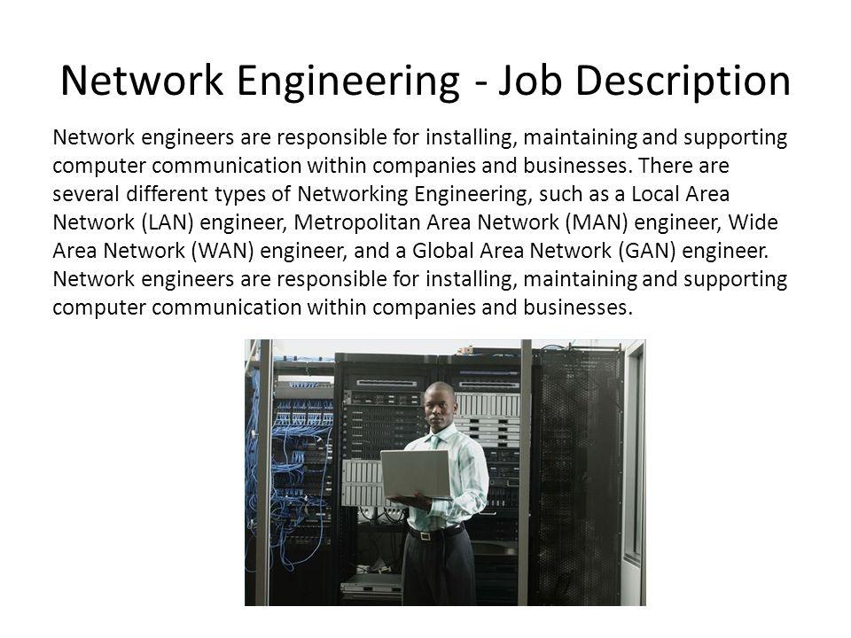 Investigating Job Roles in IT Alex Haslam Network Engineering - Job - network engineer job description